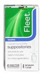 Fleet Laxative Liquid Glycerin Suppositories -- 4 Suppositories 0.15 lb