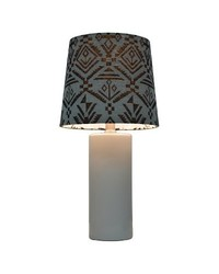 Nate Berkus Embossed Floral Ceramic Table Lamp - White