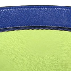 OMG Styles Women's Classic Business Shopper Tote - Blue/Lime - Size: M