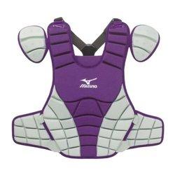 Mizuno G3 Samurai Chest Protector, 16-inch, Purple/grey