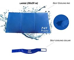 Petpeppy Self Cooling Pressure Activated Pet Bed with Pet Cooling Collar