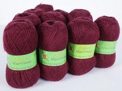 Alpaca Blended Knitting Yarn Fingering 10 Skeins, Burgundy