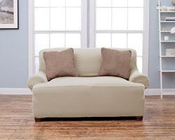 Home Fashion Designs Lucia Corduroy Strapless Slipcover - Loveseat