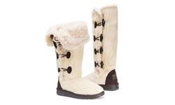 Muk Luks Women's Boots - Felicity Cream - Size: 9