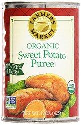 Farmer's Market Organic Sweet Potato Puree 12 Pack - 15Oz Cans