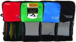 Acco Brands Usa Llc 50516 Five Star Stand N Store Pencil Pouch 4.5x8 Asst