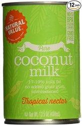 Natural Value B20963 Natural Value Organic Coconut Milks -12x13.5oz