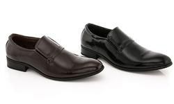 Franco Vanucci Men's Slip-on Dress Shoes: Black/10