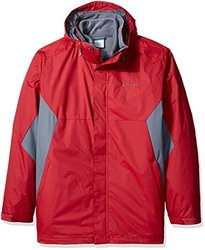 Columbia Men's Tall Eager Air Big and Interchange Jacket - Red/Graphite - Size: 2XL