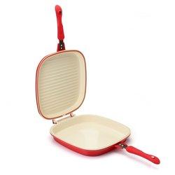 Cook's Companion Nonstick Low Pressure Versa Flip Pan - Red