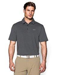 Under Armour Playoff Horizontal Stripe Polo Shirt - Steel - Size: XL