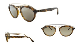Ray Ban Women's Gatsby Sunglasses - Tortoise/Gold Mirror