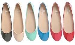 Riverberry Aria Round Toe Ballet Flat: Nude - 8