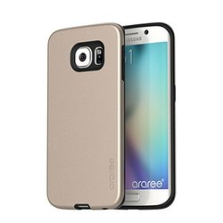 ARAREE Amy Case for Galaxy S6 Edge - Retail Packaging - Champagne Gold