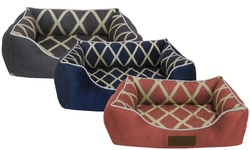 Soft And Comfy Printed Pet Bed: Grey