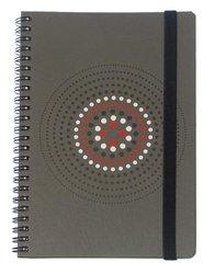 Grandluxe Bull's Eye Imprint Notebook, Large, 5.5 x 8.3 Inches