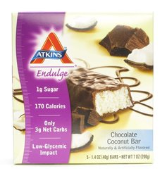 Atkins Endulge Bars - Chocolate Coconut - 5-Count 1.4-Ounce Bars