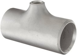 "Merit Brass Stainless Steel Pipe Fitting - 1"" x 1"" x 1/2"""
