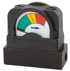 Mid West Glass Filled Nylon Differential Pressure Indicator with Base