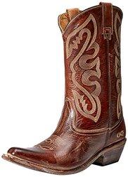 bed stu Women's Tehachapi Western Boot, Tan Rustic/White, 6 M US