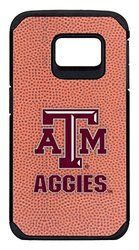 NCAA Texas A&M Aggies Classic Football Pebble Grain Feel Samsung Galaxy S6 Edge Case, One Size, Brown