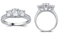 3/4 Cttw Diamond Engagement Ring In 10k White Gold: Size 7
