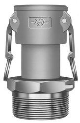"PT Coupling 1"" Cx 2"" NPT M Aluminum Reducer Cam & Groove Hose Fitting"