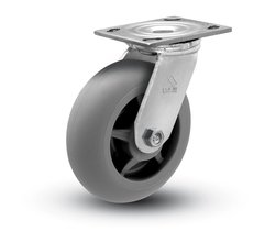 "Shepherd 600 lbs Capacity 6"" Diameter TPR Donut Wheel Swivel Caster"