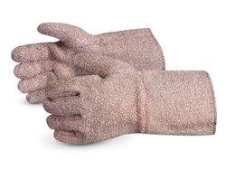 Superior Heavy-Duty Marl Terry Knit Gloves - Pk of 1 Dozen - Brown/White