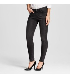 Mossimo Women's Mid-Rise Skinny Jeans - Black Rinse - Size: 0 Regular