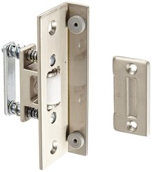 Rockwood Brass Roller Latch w/ Angle Stopp for Door - Satin Nickel Plated