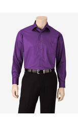 Van Heusen Men's Solid Color Lux Dress Shirt - Purple - Size: 17 X 34/35