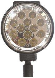 P2024 Aluminum 12 LEDs Waterproof Lamp w/ Mounting Bracket & PC Lens