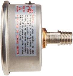 PIC 303LFW-254C 0/30 Psi Range Glycerin Filled Center Back Pressure Gauge