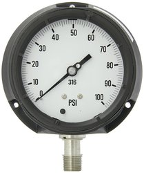 PIC 4501-2LE 0/100 Psi Range Dry/Fillable Bottom Process Pressure Gauge