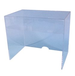 S-Curve EC-1815 Acrylic Cover for Laboratory Storage Shelf - Clear