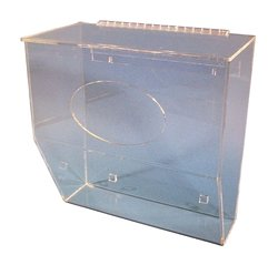 S-Curve SBD-19LP Acrylic 1 Compartment Storage Bin Dispenser