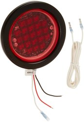 North American Signal LEDQR-R LED Grommet Mount Round Warning Light - Red