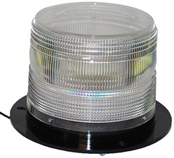 North American Signal LED625F-C LED Beacon - Permanent Mount - Clear
