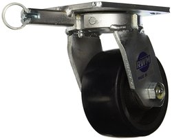 "RWM Casters Series 5-5/8"" High 4"" Urethane on Iron Wheel with Swivel Lock"