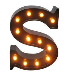 Threshold U08241627 12 Light Bulb S Letter Metal Marquee