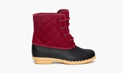 Sociology Women's Cold Weather Quilted Duck Boots - Wine - Size: 8