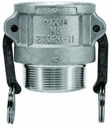 Dixon Aluminum 356T6 Type B Cam & Groove Hose Fitting (150-B-AL)