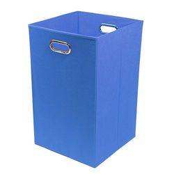 Modern Littles Sky Folding Laundry Basket - Baby Blue
