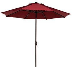 Tianhe Outdoor Table Aluminum Patio Umbrella - Red - Size: 9 Feet