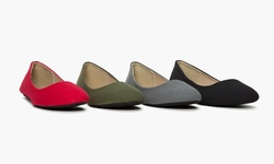Sociology Women's Fall Fabric Ballet Flat -Olive - Size:8.5