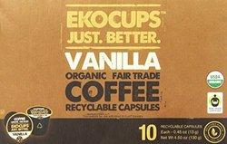 Ekocups Organic Vanilla Flavour Artisan Coffee