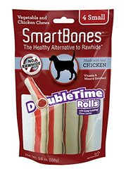 Smart Bones Double Time Rolls Dog Treat - Size: Small