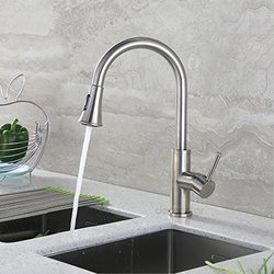 "Decor Star 16"" Pull Down Spray Kitchen Sink Faucet - Brushed Nickel"