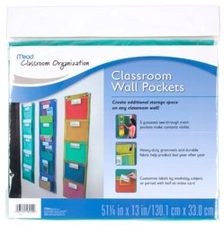 Mead 72340 Classroom Wall Pockets - Teal